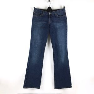 Lucky Brand Mid Rise Flare Dark Wash Jeans